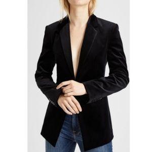 Theory velvet black pinstripe blazer jacket